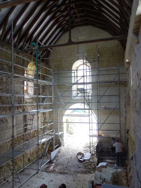 Historique du chantier saint libert soci t for Doublage mur interieur