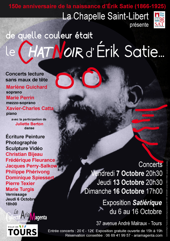 Exposition Eric Satie à Saint-Libert
